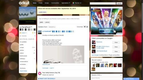 Goodbye my friend, goodbye Orkut 😂
