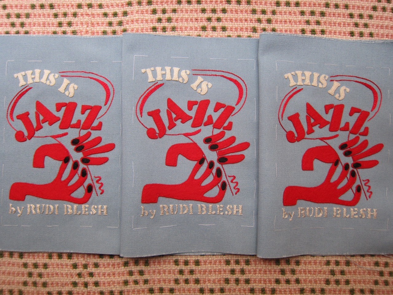 This is Jazz embroidery for book-clutch by Olympia Le-Tan.