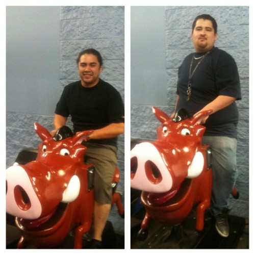 Manny and I riding our epic steed #pumba. Get on our level