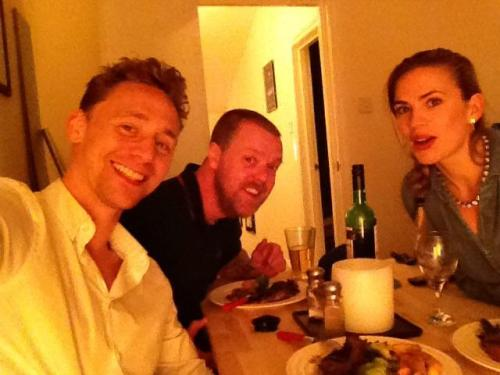 torrilla:   Paul Andrew Williams: @HayleyAtwell @twhiddleston eating the awesome food I cooked. Proof that we know each other. pic.twitter.com/6v9dkrig8P