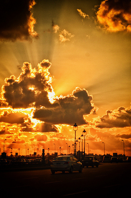 Sunset boulevard by Attefable on Flickr.