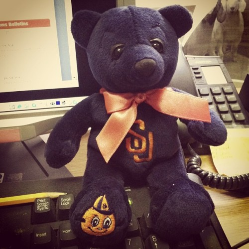 CuseBear and I are getting into an #orange state of mind for tonight's #Sweet16 game! #MarchMadness #goorange