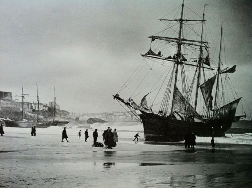 wrecked ship wrecked beached ship cornwall sailing ship