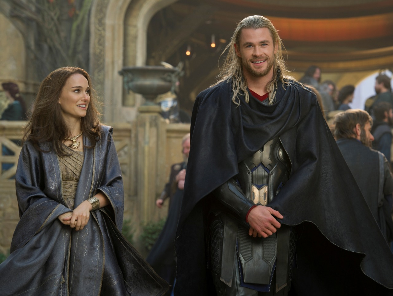 "gingerhaze:  destronomics:  edenliaothewomb:  Natalie Portman as Jane Foster and Chris Hemsworth as Thor in ""Thor: The Dark World"", 2013. (click the image for EXTREMELY high-res photo.)  WHOLE STUPID HEART  EEEE  Holy shitlicking mother of god HIDDLESTON AND ECCLESTON IN THE SAME MOVIE AS CHRIS HEMSWORTH'S GODLY ABS. November 8, people!"
