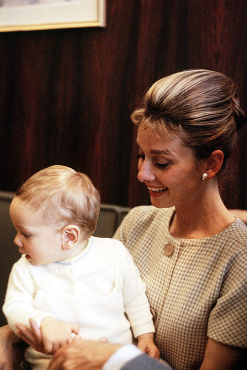 Audrey Hepburn with son Sean Hepburn Ferrer, 1961.
