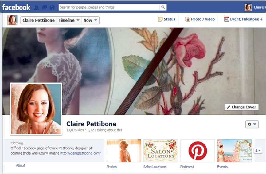 "Our client Claire Pettibone passed along some great feed back from one of their stockists/salons: ""…their manager said our social media was the best along with Oscar de la Renta…so we're in good company!"" Really appreciate your (Teams) contributions!"""