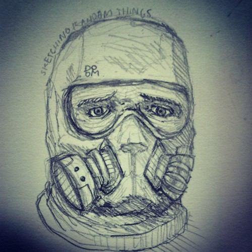 Random gas mask guy sketch
