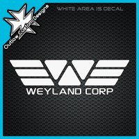 (DECAL) Aliens - Weyland Corp Logo & Name from Outlaw Custom Designs The Weyland Corporation, seen in the film Prometheus, is a large conglomerate corporation runs the human colonies and exploration outside of Earth's solar system through the Extrasolar Colonization Administration.
