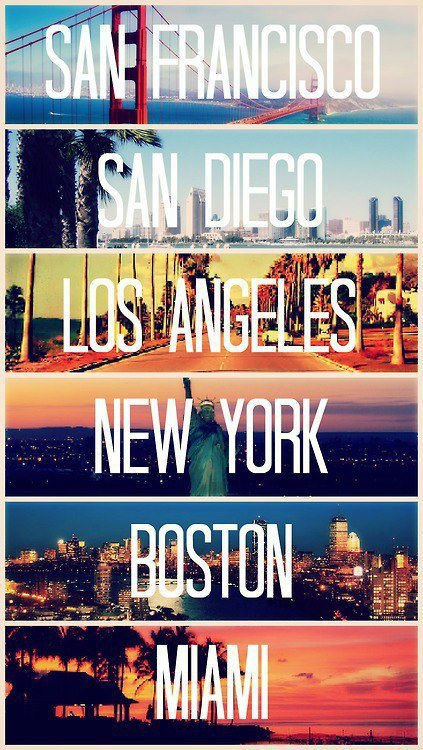 Just missing San Francisco and San Diego