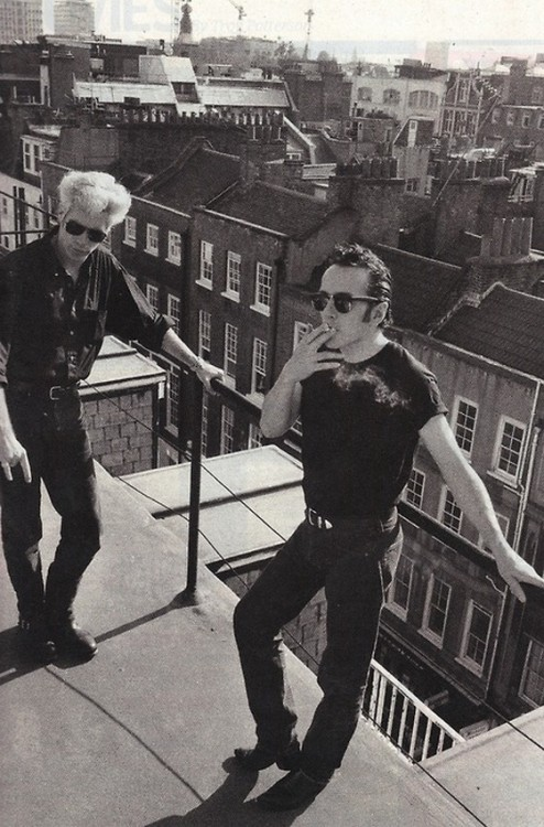 anothermediocreblog:  Joe Strummer & Jim Jarmusch, NYC.