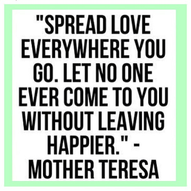I strive to do this. Sending love and happiness. Have a beautiful day! 😘 #happysaturday #loveyou
