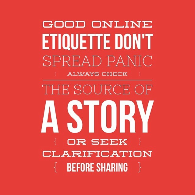 Always check out a story before sharing :-). #ethics #responsibility