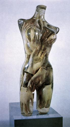 405universe:  eightofive:  Arman: Torso with Gloves, 1967.      (via TumbleOn)      (via TumbleOn)