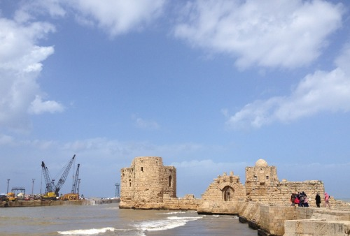 The beautiful castle of Saida www.meandbeirut.com #beirut #lebanon
