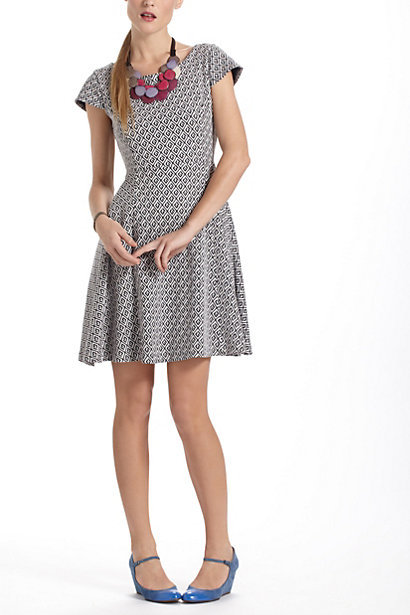 Dress like Quinn Fabray: Jacquard Circle-Skirt Dress $138,00 from Anthropologie submitted by Nicole - thank you!