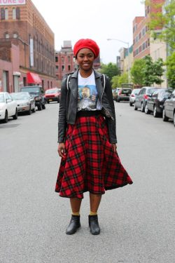 "humansofnewyork:  ""What's your greatest struggle right now?""""Fear of my writing. Sharing my writing, in particular.""""Will you email me something you wrote tonight?"" ""Less Fear"" By Sade Johnson  America take restI was born No poetBorn laces to television archaic computer lemming gamesWalmart target home depot banks  Big man take restI was born No loverBorn sage-less wise crackerAbandoned lot mower for petrified native broken horn blowers Savage take restI was born No tin man tight vested slave authorBorn on No Puritanical pilgrimage not Lord wrought No Kings vestige  Youth take restI was born a silver-tongued tight fisted counter daughterFire starting ageist hippyEmpty gun waving barbiturate sippingAnti- nun I take restI was born No fool"