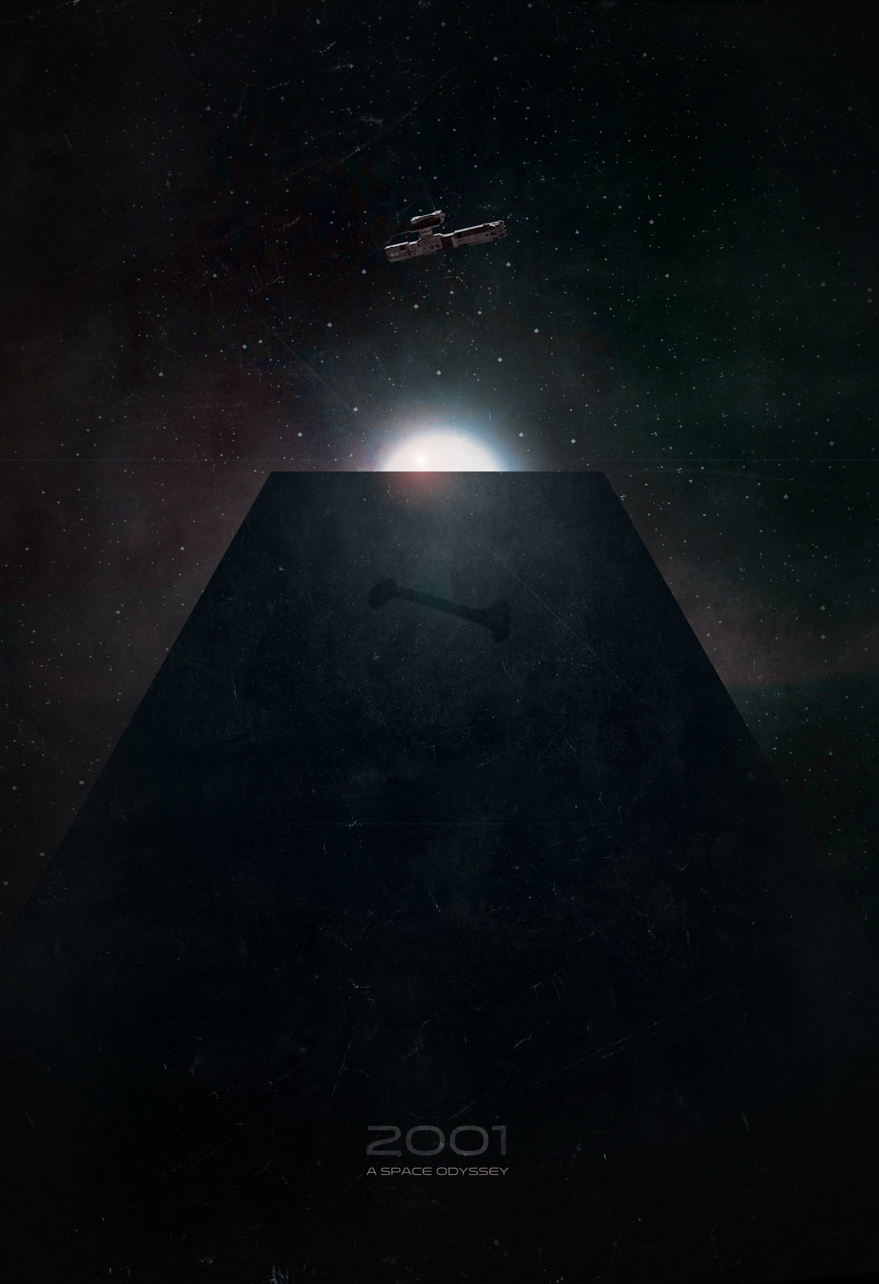 dan-hill:  fuckyeahmovieposters:  2001: A Space Odyssey by Jason Heatherly  Beautiful.  Love it. I want this on my wall now.
