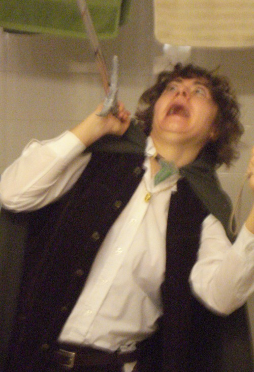 i found pictures of when i dressed up as frodo happy hobbit dvd release day