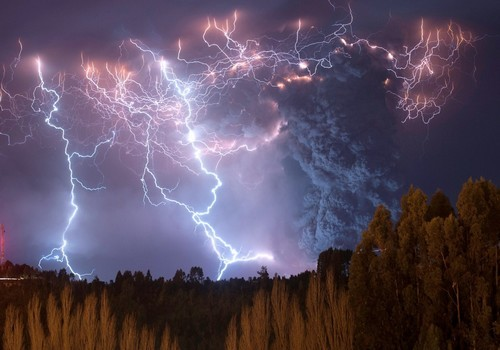 wonderous-world:  A spectacular electrical storms light up the Puyehue-Cordón Caulle range after themassive 8.8-magnitudePuyehue volcano erupted in Chile which had laid dormant for over half a century. The eruption belched an ash cloud more than six miles high over the Andes and cause a flurry of earth quakes.Photos by:Francisco Negroni Flickr 500px