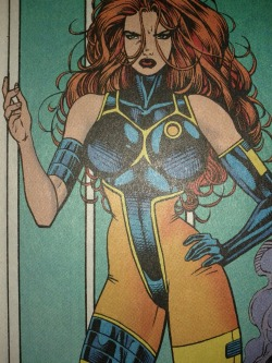 jean grey's costume, from when she was in the future, was futuristic