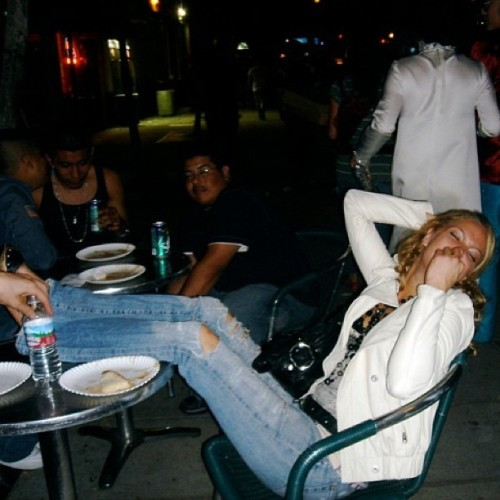 Pizza in WeHo. Look around: it's crazy town! #TBT