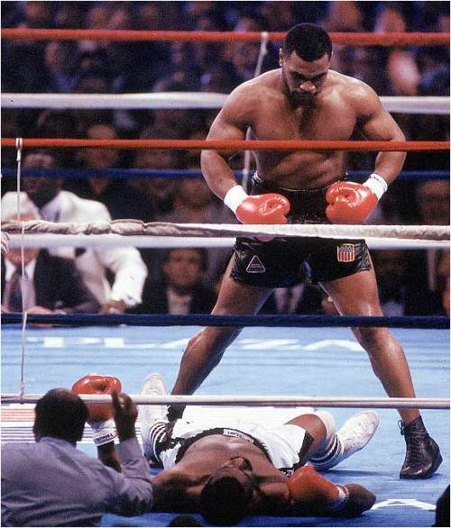 "boxingsgreatest:  ""I could feel his muscle tissues collapse under my force. It's ludicrous these mortals even attempt to enter my realm.""  - ""Iron"" Mike Tyson"