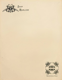 jean harlow's stationery