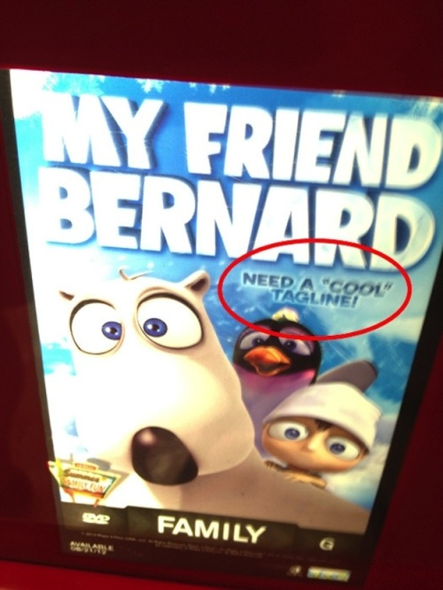 """My friend Bernard"" DVD cover epic fail"