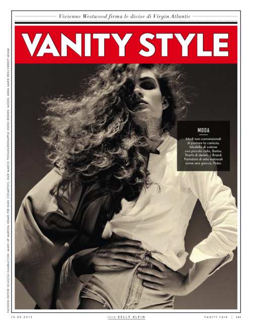 """Rinata con la Camicia"" (+) Vanity Fair Italy, 15 May 2013 photographer: Kelly Klein Anne Marie Reilly"