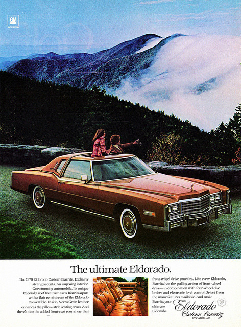 chromjuwelen:  1978 Cadillac Eldorado Custom Biarritz by aldenjewell on Flickr. 1978 Cadillac Eldorado Custom Biarritz  What '70s fuel crisis? Well, it wasn't the last one, but it was the ultimate big Eldorado with that 500 in³ block.