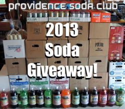 "2013 SODA GIVEAWAY! 2012 was a big year for Providence Soda Club. We both formed and put on our ""Inaugural Soda Social""! But to get things really started in 2013, we're going to do our first-ever give away! Prizes include choices of 40 different soda flavors from five New England area soda companies (Boylan's, Foxon Park, Maine Root, Polar, & Yacht Club!) Full flavor list is here! Rules:  Reblog to enter! Must be following Providence Soda Club No give away blogs U.S. only (sorry, soda is heavy!) 3 Prizes: 1st: Choice of 3 Sodas 2nd: Choice of 2 Sodas 3rd:Choice of 1 Soda Winner will be randomly picked on Fri 1/31/13 at 11:59pm EST and contacted via their ""Ask"" box! Good luck!"