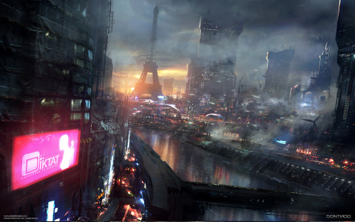 saveroomminibar:  Remember Me. Location: Neo Paris. Concept Art by Paul Chadeisson.
