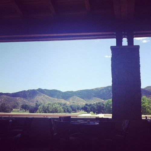 View w/brunch. Boy am I spoiled. Happy Mothers Day  (at Robinson Ranch Club House)
