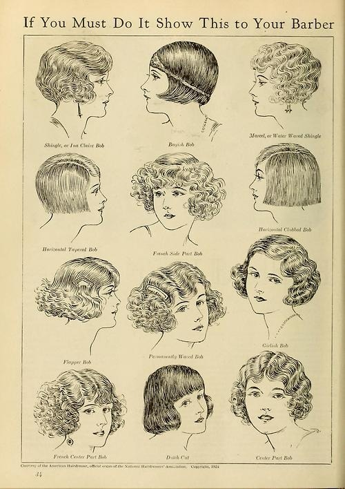 "rookiemag:  walkingdownaleafylane:  Taken from a magazine - 1924.  IF YOU MUST. -AA  i wish i could do ""girlish bob"" with my hair </3"