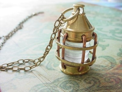 """Nautical Lantern"" Necklace by MySelvagedLife"