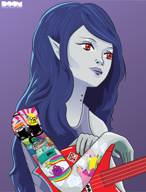 Even closer-up of my Marceline drawing