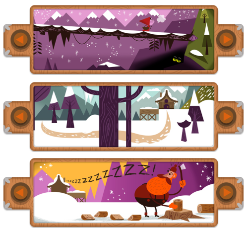 Little Red Riding Hood Google Doodle to celebrate the 200th Anniversary of the Brothers Grimm | December 20, 2012