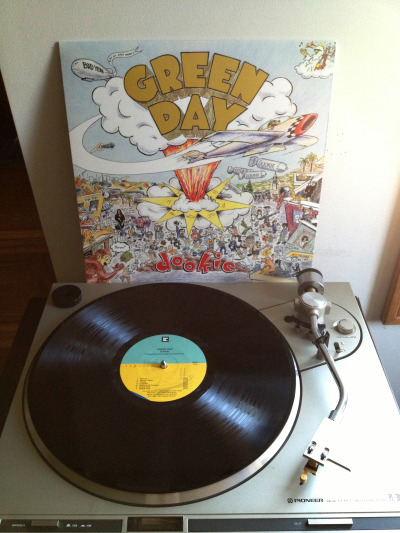 jocelynsrecordcollection:  Green Day - Dookie Black LP, 2009 (originally released 1994) Reprise Records (USA)
