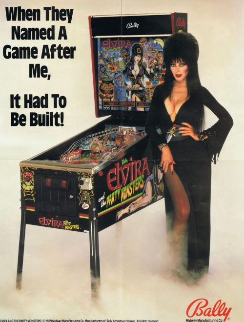 Elvira & the Party Monsters pinball machine (1989)