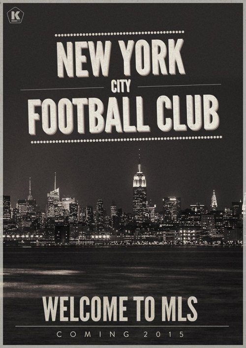New York City FC. It's the Yankees. It's Manchester City. It's coming to MLS in 2015. [Art by Luke Barclay]