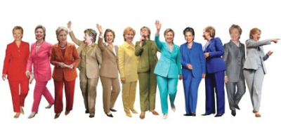 deeee-light:  Hillary Clinton pant-suit rainbow
