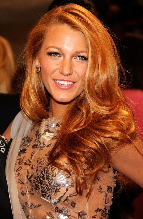 createthislookforless:  Blake Lively fuckyeahhairstyle:  Strawberry blonde
