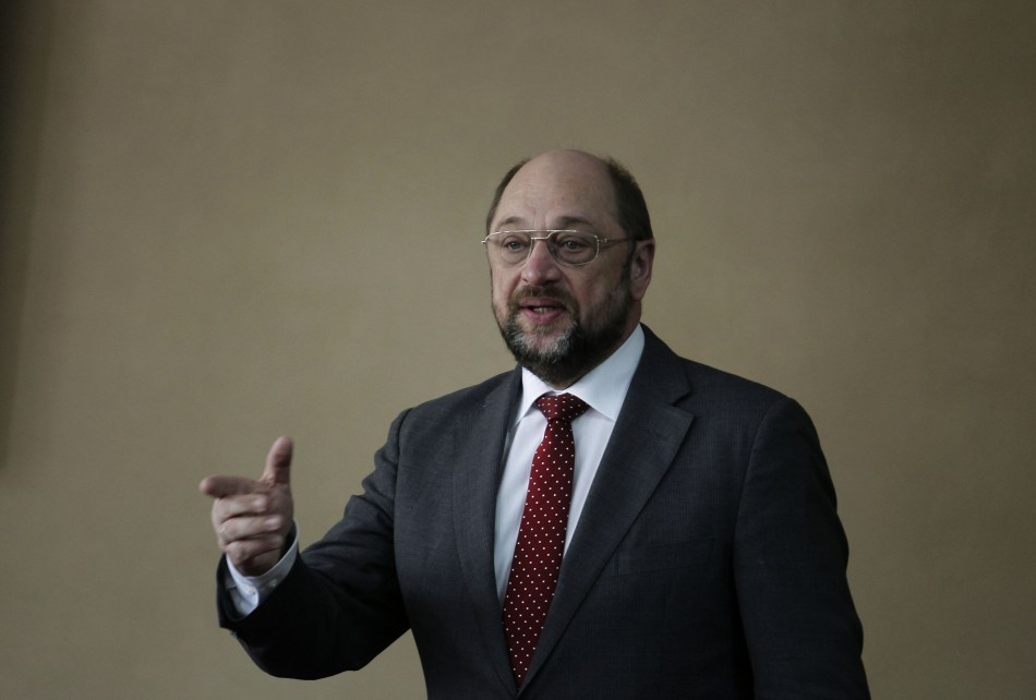 European Parliament President Martin Schulz Urges Italians not to Vote for Silvio Berlusconi  http://www.ibtimes.co.uk/articles/437745/20130221/berlusconi-schulz-italians-vote-nazi-kapo.htm