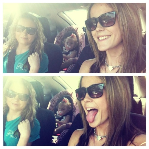 Jenelle and Taylor with Courtlands' daughter Jordan