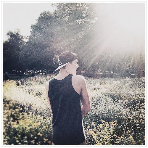 Jackamo walking through the flowers! @jacksgap