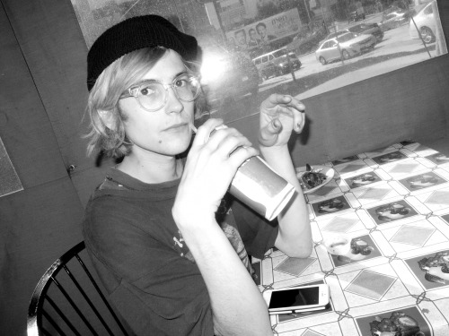Zach from DIIV at our Sunset Strip lunch. I love taking these kind of candid photos! Photo by Brad Elterman