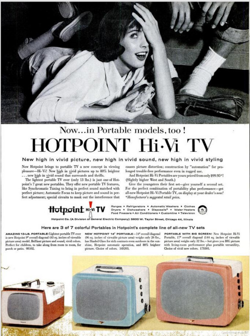 (via vintage_ads: Hotpoint Hi-Vi TV (1965))