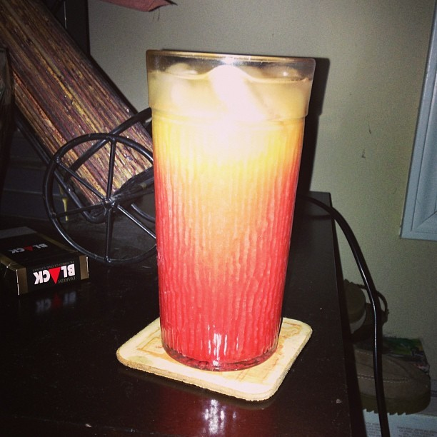 Drank! Tequila sunrise!! #tequila #sunrise #tequilasunrise #drank #alcohol #josecuervo (at Osito's House)
