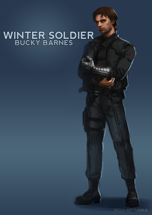 "vylla-art:  James ""Bucky"" Barnes: The Winter Soldier - 23/46 365 days in counting."