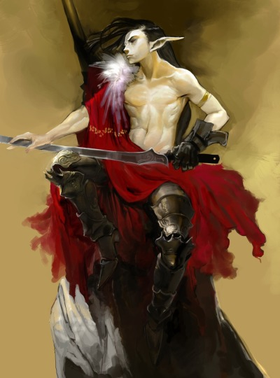 """Male elf Swordsman"" [Artist: Roxane Jeong]"